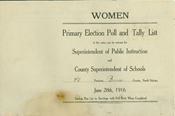 women's primary election tally list