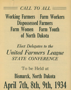 United Farmers League poster