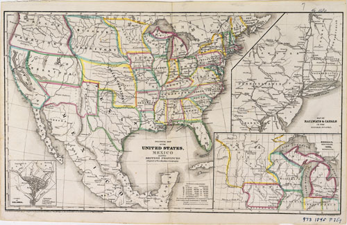 1845 Political Map - Set 2: Mapping the Land & its People - Unit 1 ...