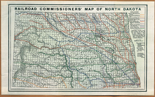 Railroad Commissioner's Map