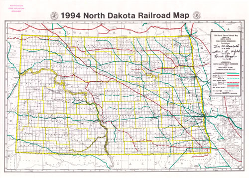 1994 Railroad Map