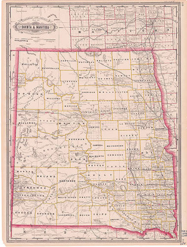 Railroad & County Map
