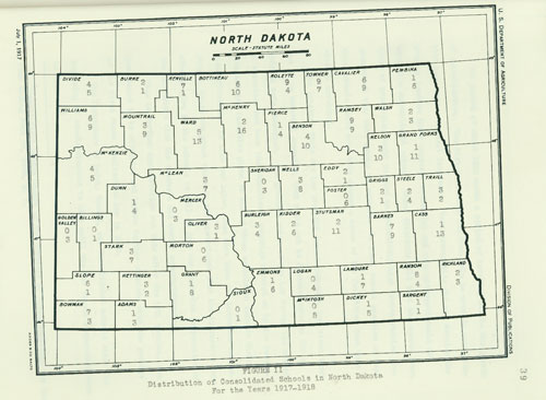 1917-1918 Consolidated Schools Map